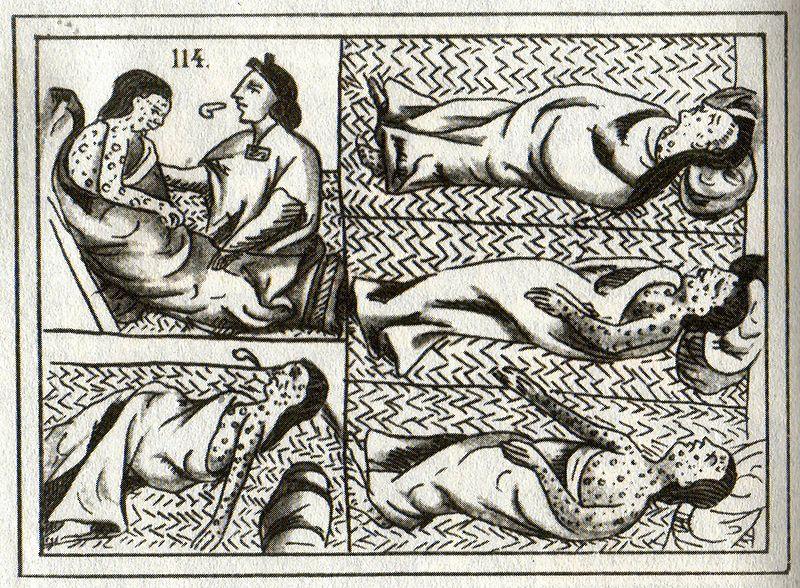 Dessins Aztèques de la variole datés du 16ème siècle